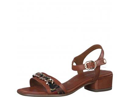 Cognac elegantní dámské sandály Tamaris