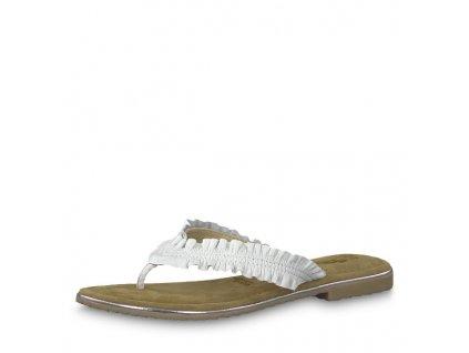Bílé dámské pantofle Tamaris