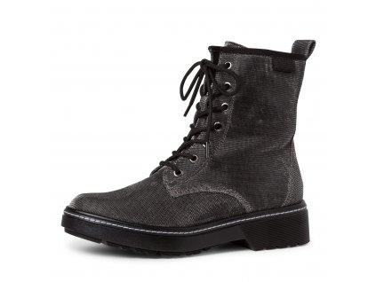 Platinum glam kotníkové boty Tamaris na zip