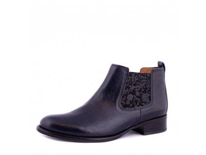 Modré navy kotníkové boty Gabor