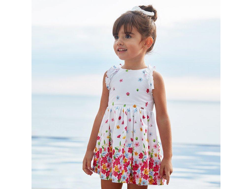 Mayoral Bavlnené kvetované šaty 20-03951-069