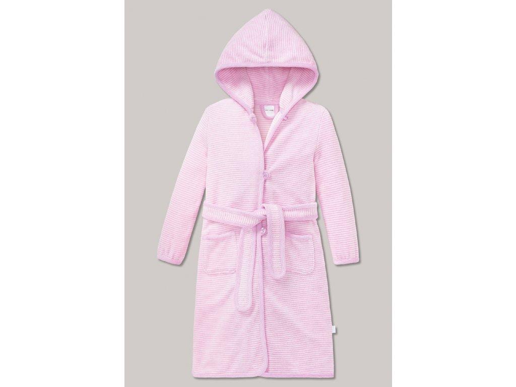 bademantel mit kapuze rosa weiss geringelt original classics 154658 503 front