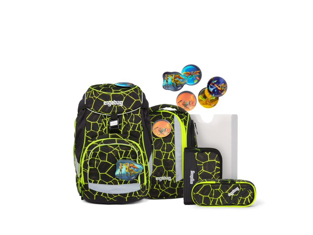 ERGOBAG skolska taska pack set dragonridebear