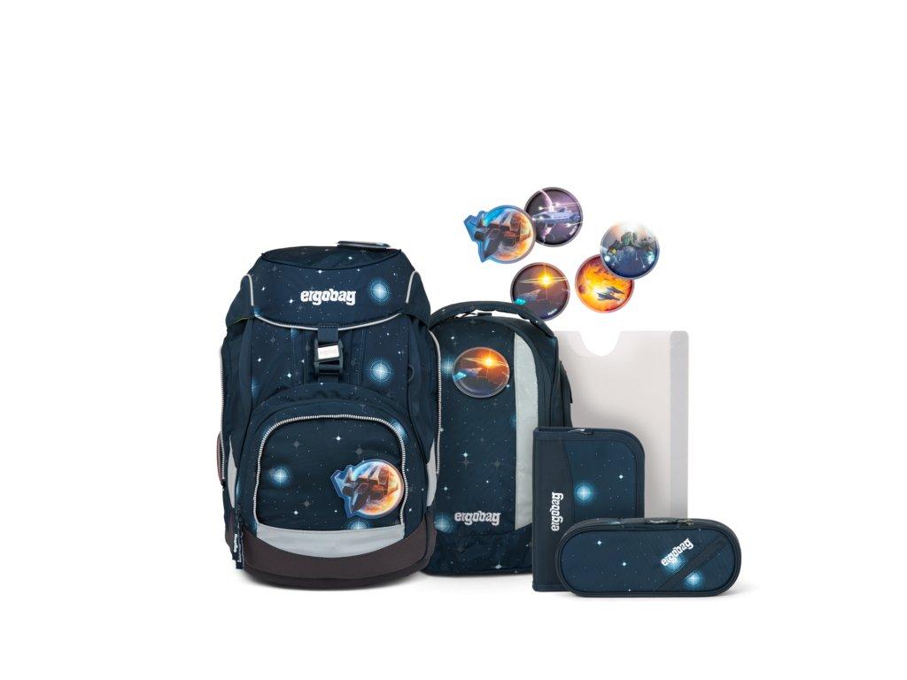 ERGOBAG skolska taska pack set atmosbearglow