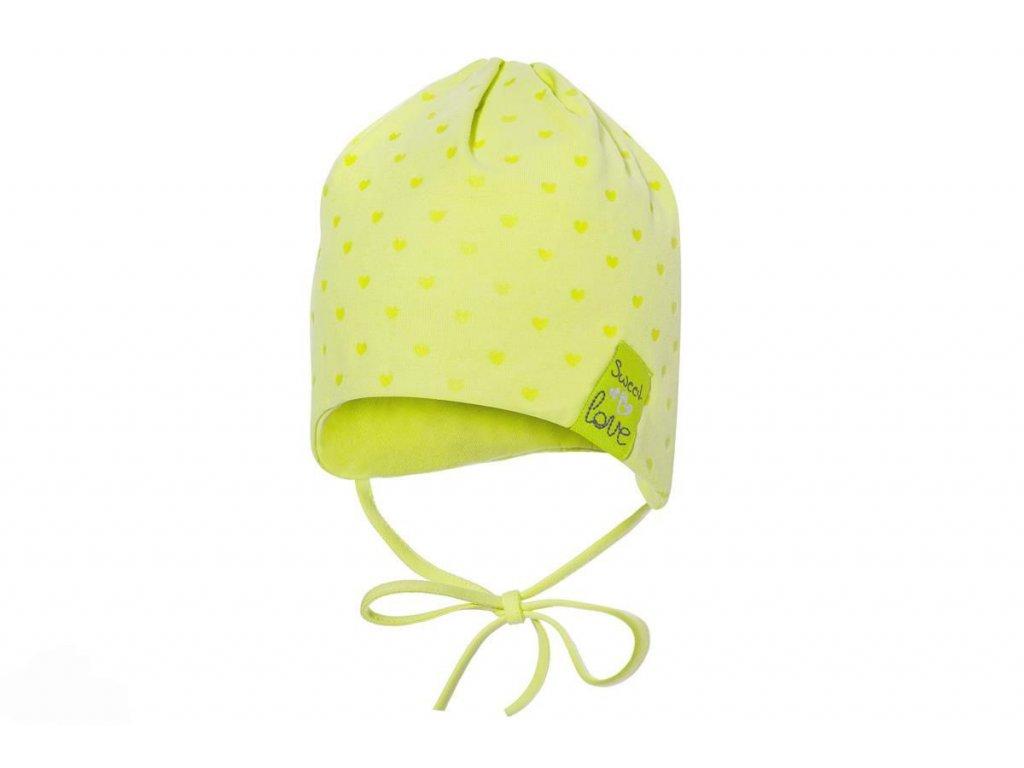 i broel idalia czapka dla dziewczynki wiazana limonka
