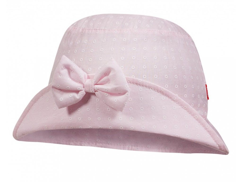 6d9c2273e Broel detský klobúk JELENA svetloružový/biely | Obuvstonozka.sk