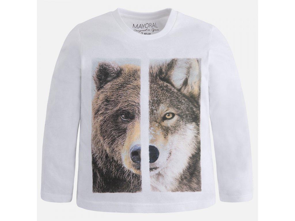 Mayoral tričko medveď-vlk 17-04029-49