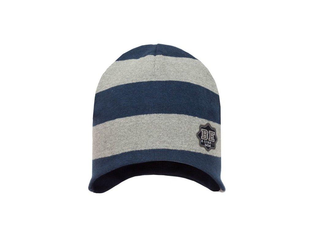 Broel jesenná čiapka CREDO modro-sivá