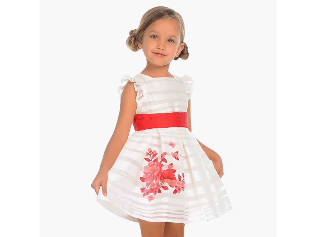 1674a30a80e9 Mayoral Slávnostné šaty s pruhmi 29-003916-095