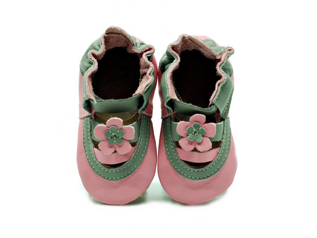 FIORINO kožené capáčky ekoTUPTUSIE - sandálky