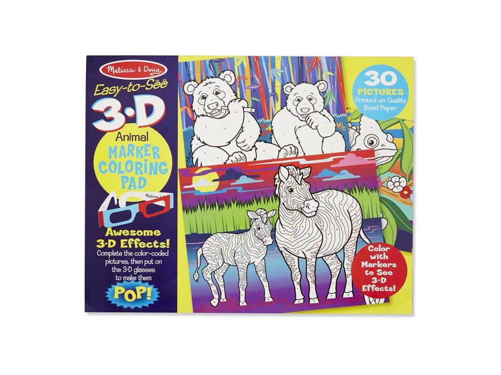 3D Omaľovánky - Zvieratká