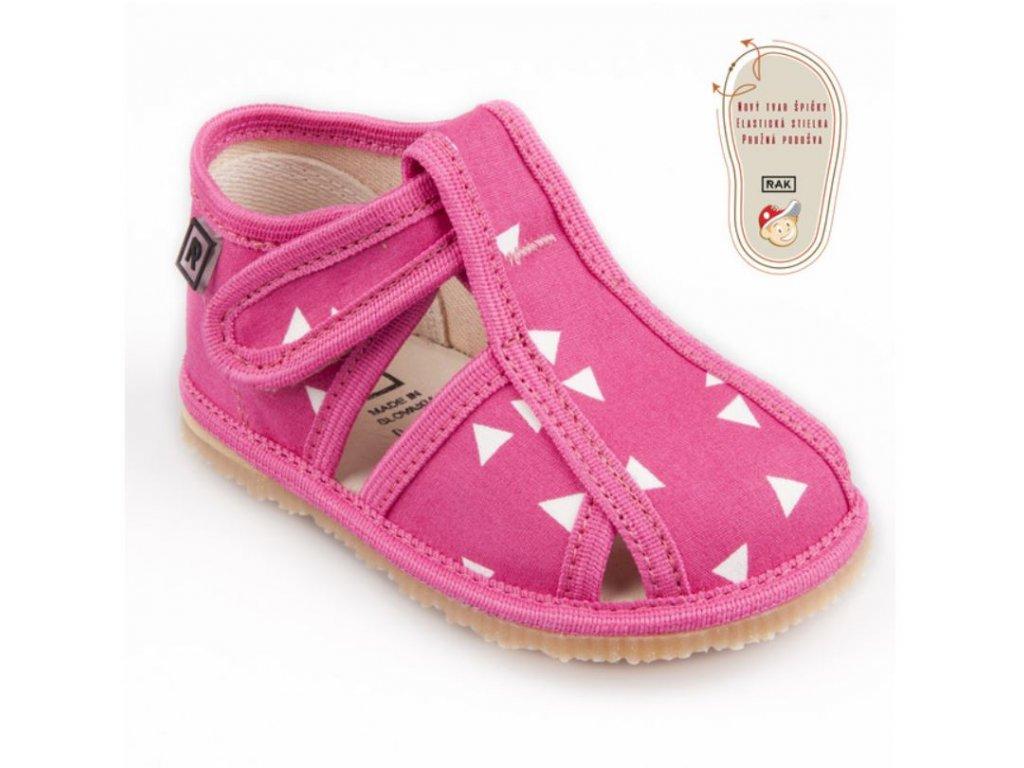 RAK papuce sandalkove ruzovytrojuholnik