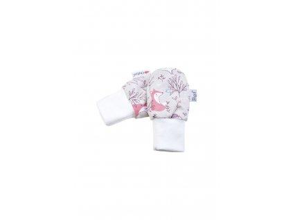 24284 rukavice podsite kojenecke outlast bezova ruzova liska pruh bilosedy melir velikost 1