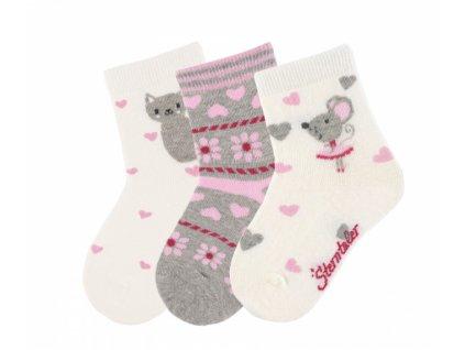 Sterntaler ponozky 3balenie dievca 3