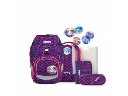 ERGOBAG skolska taska pack set pearldivebear