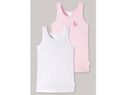 unterhemden 2er pack feinripp organic cotton pferd ringel weiss rosa feinripp multipacks 173257 912 detail1