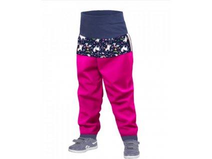 Unuo detske softshellove nohavice jednorozce