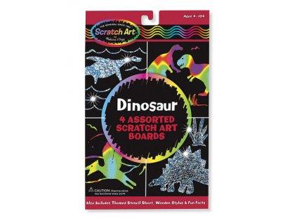 Vyškrabávacie obrázky Dinosaury