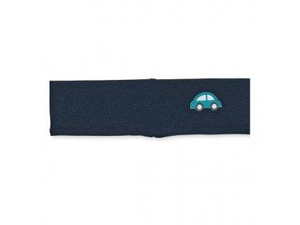 Sterntaler bavlnená čelenka pre chlapcov - kráľovská modrá