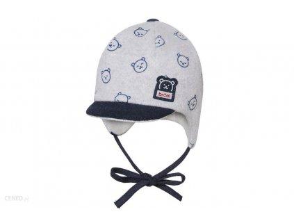 i broel super czapka niemowleca chlopiec szara