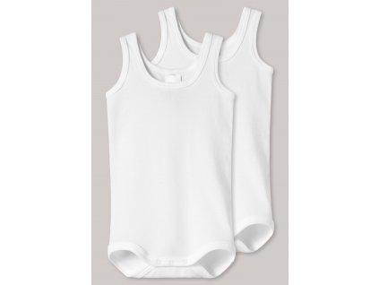 baby bodys 2er pack aermellos unisex feinripp weiss original classics 220152 100 front