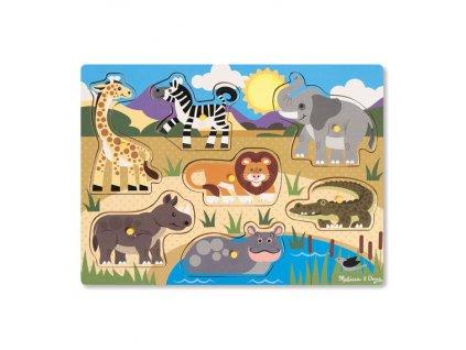 Drevená vkladačka - safari