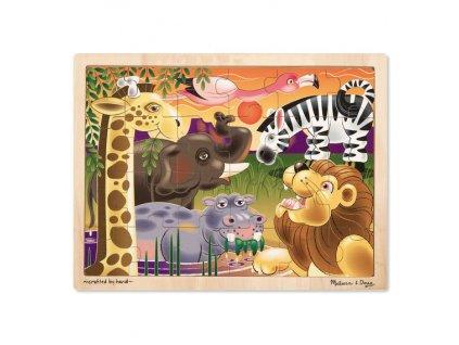 Drevené puzzle - africké zvieratká