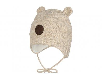 Gianni broel uszka chlopiec bezowa super czapki jesien zima 2020
