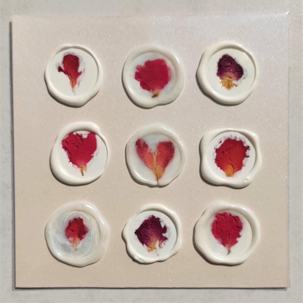 SAMOLEPÍCÍ PEČETĚ s růžemi