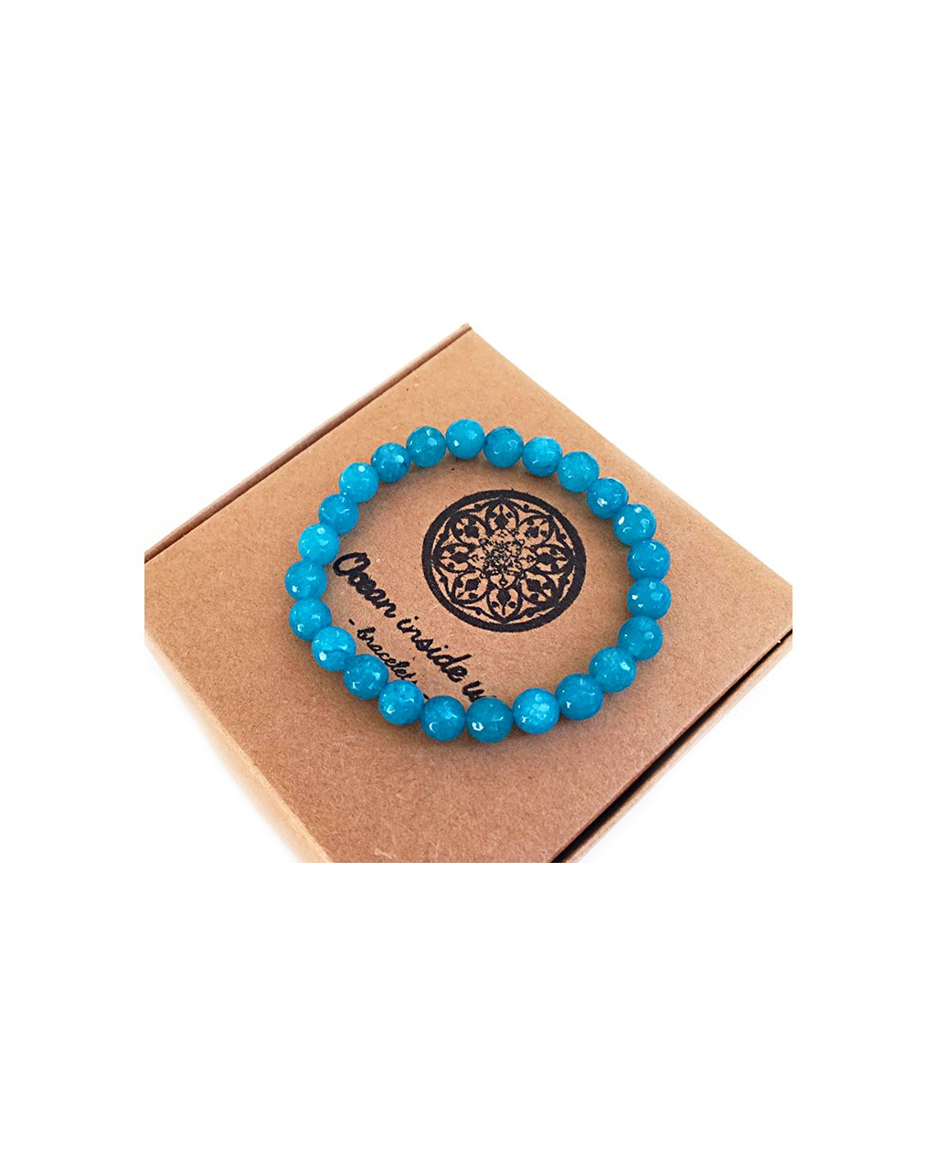 Náramek z minerálu chryzokol modrý