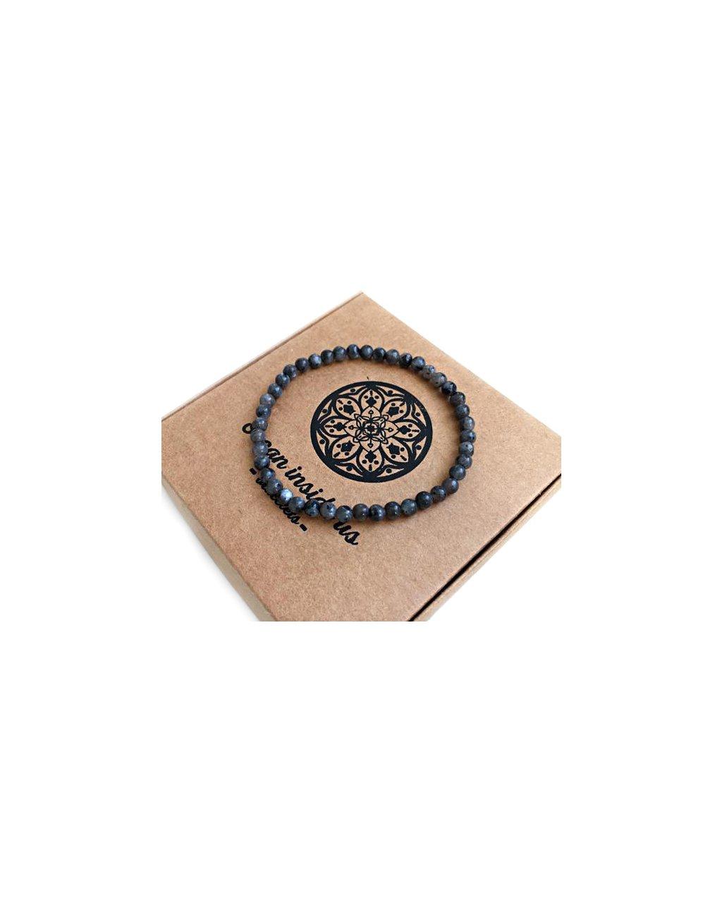 Pánský náramek z minerálu bambusový achát