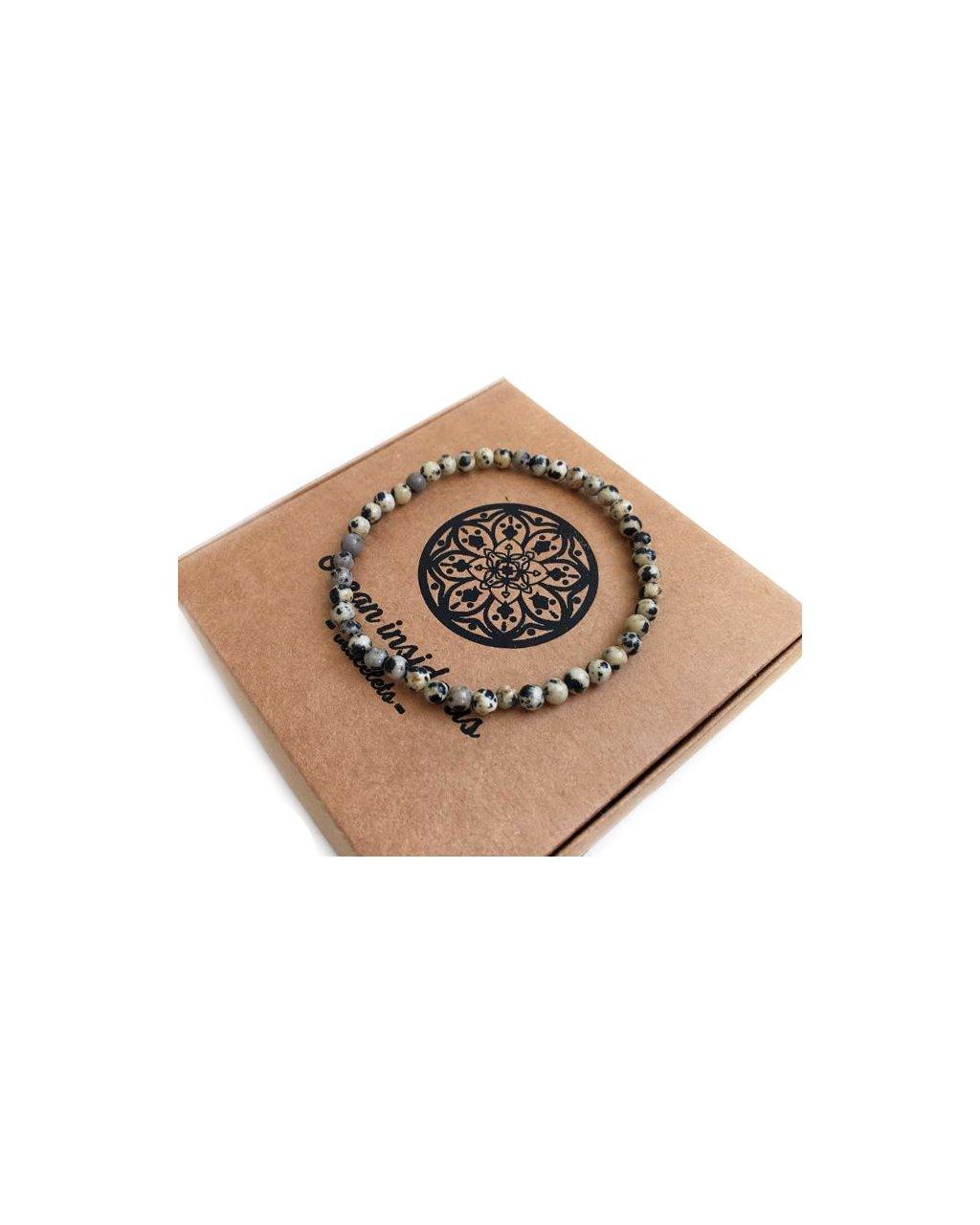 Jemný náramek z minerálu labradolit