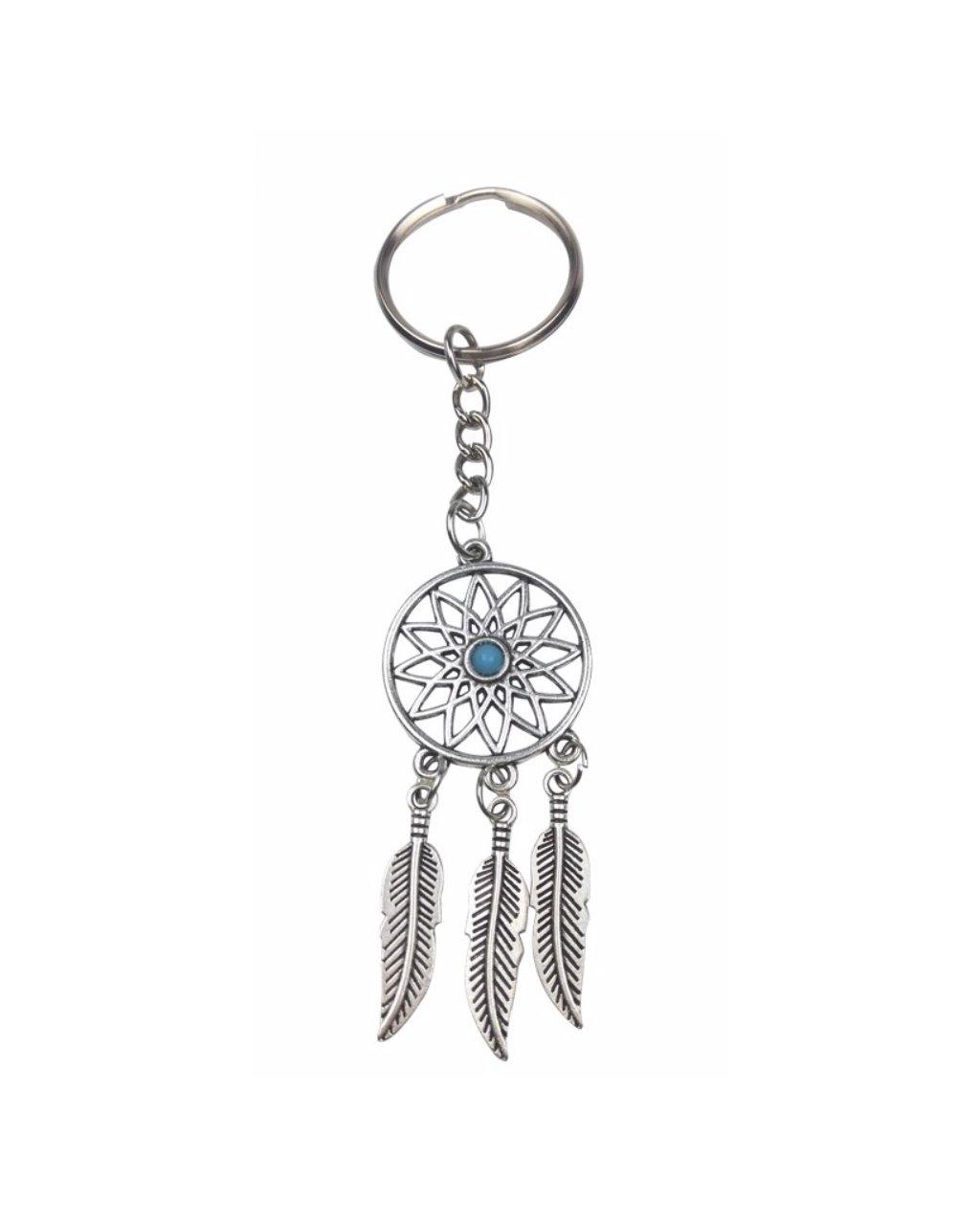 Přívěšek na klíče indiánský lapač snů a avanturín