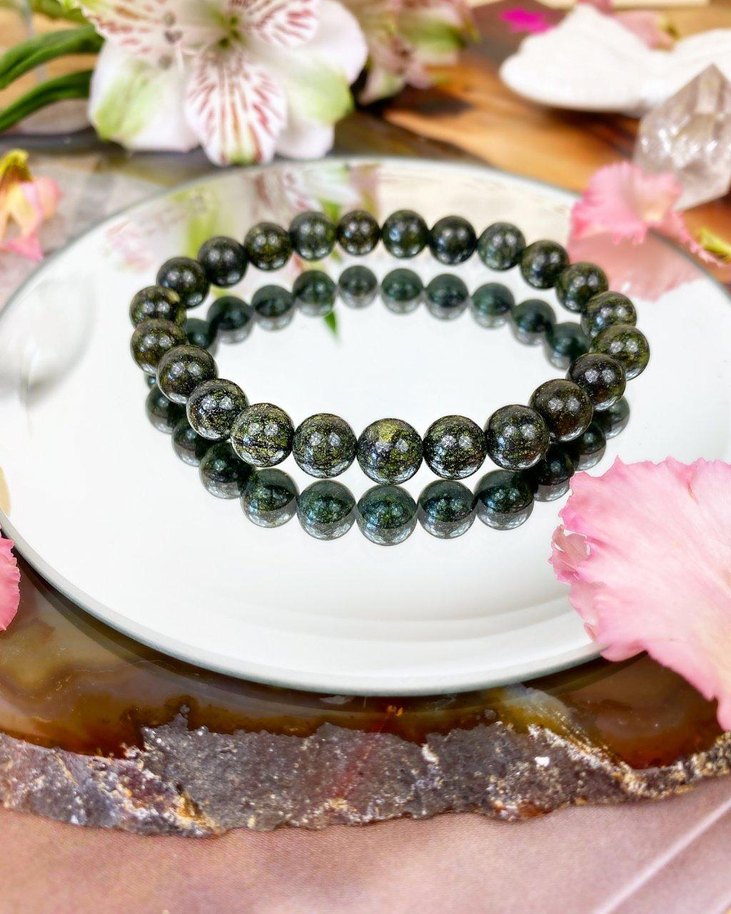 Luxusní náramek z minerálu serpentin Rusko AAA kvalita