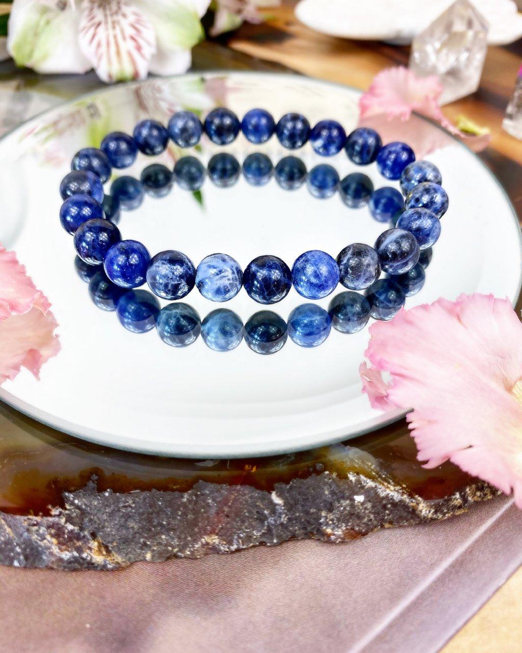 Luxusní náramek z minerálu modrý sodalit AAA kvalita
