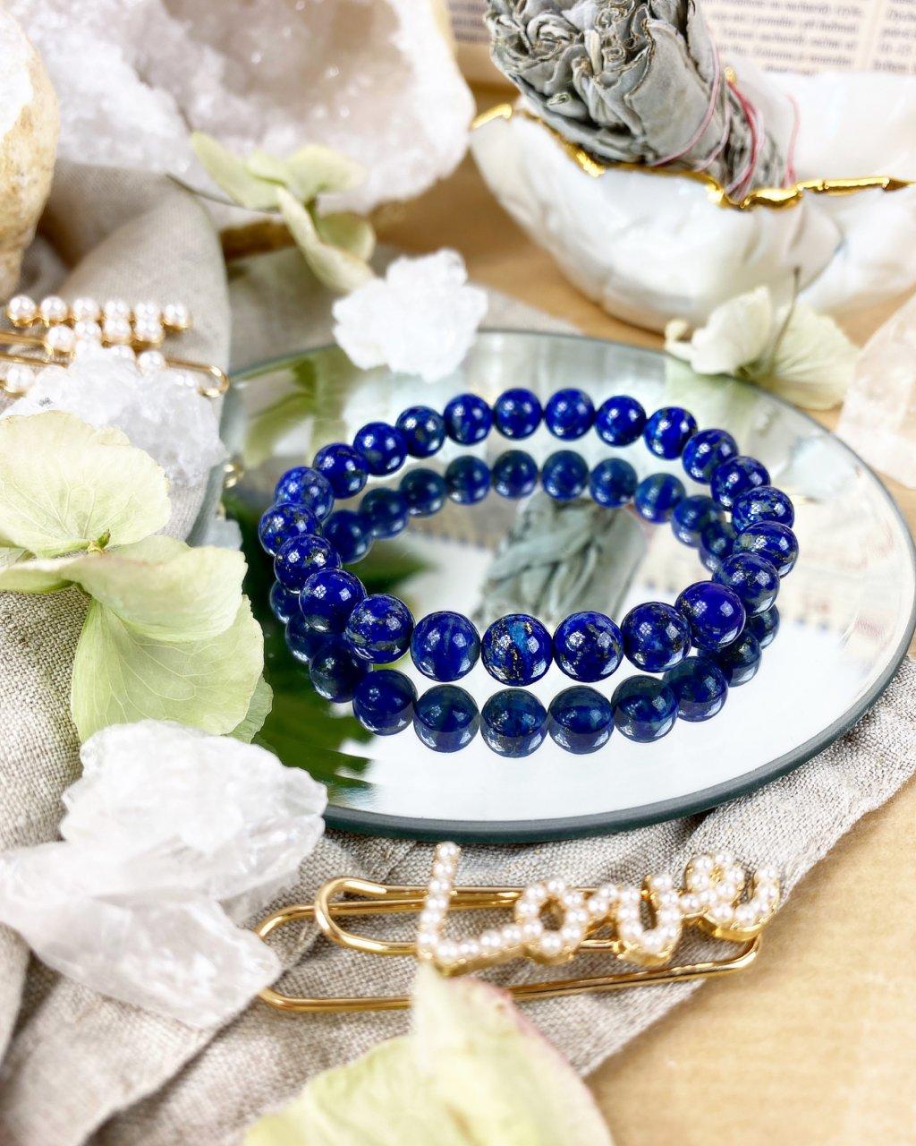 Luxusní náramek z polodrahokamu lapis lazuli AAA kvalita