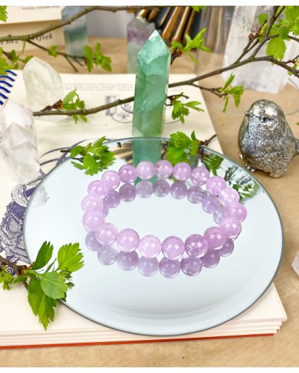 Náramek z minerálu angelit fialový strukturovaný