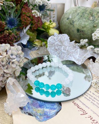 naramek z mineralu praskany kristal muslicka