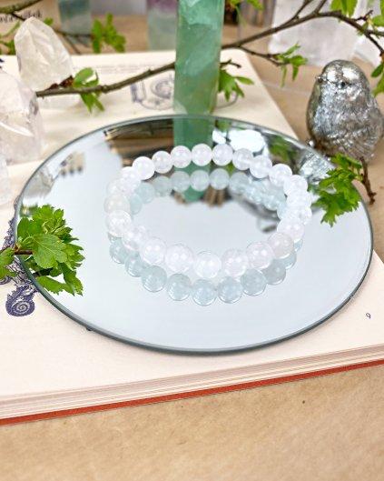 Náramek z minerálu jadeit sněžný