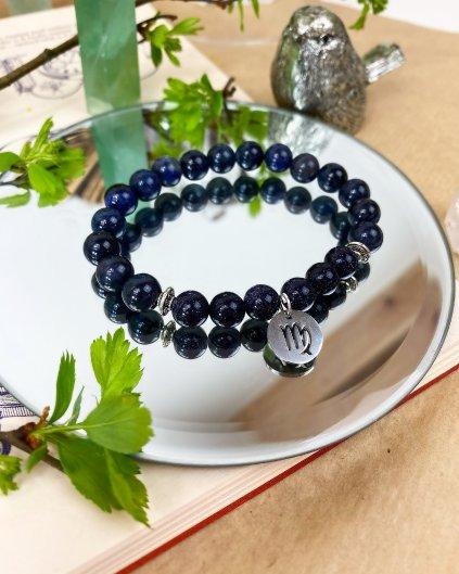 Náramek podle znamení panna modrý sodalit a lapis lazuli