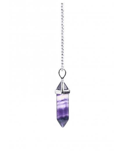 Jemný náhrdelník s kamenem fluorit fialový