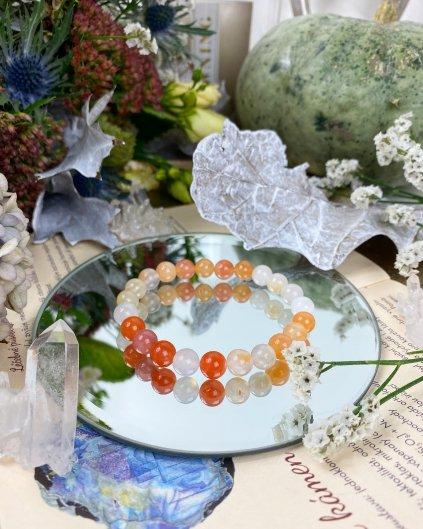 Náramky z minerálu achát oranžový