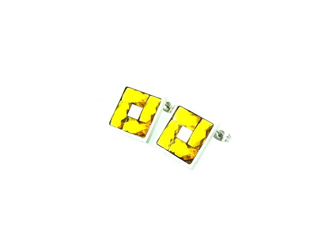 6122.náušnice z chirurgické oceli chirurgická ocel žluté