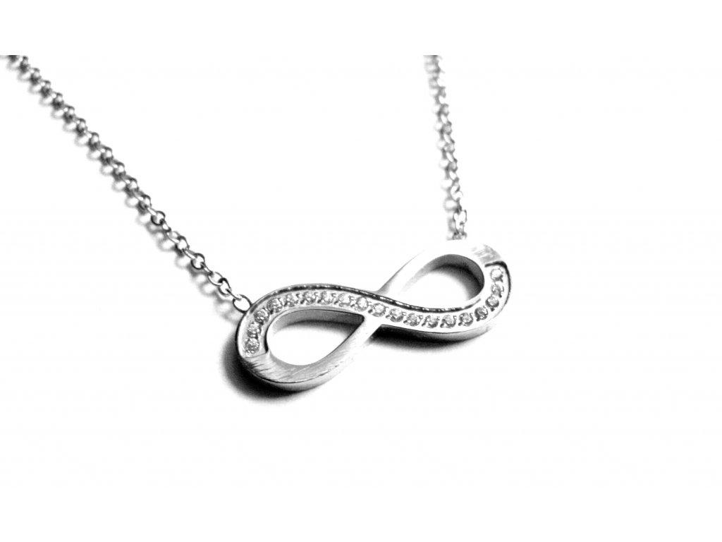 řetízek, náhrdelník - jemný - nekonečno - chirurgická ocel - 180305
