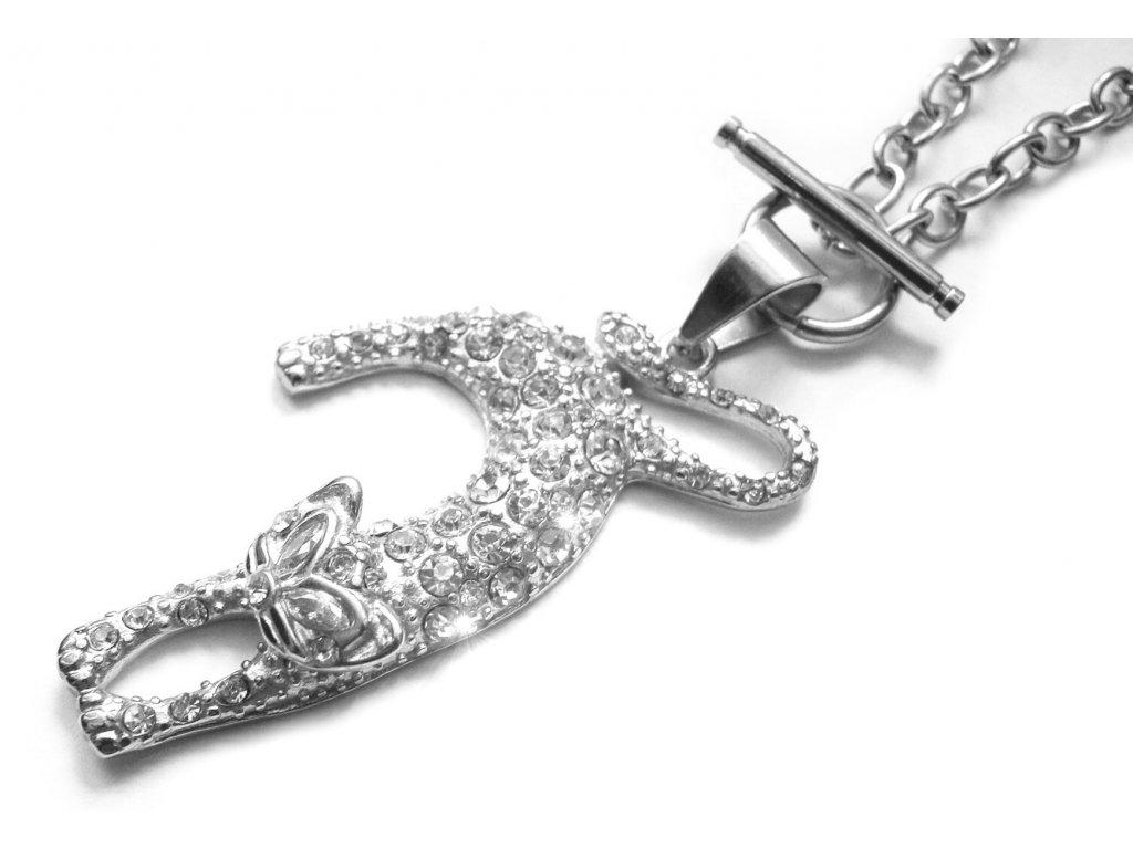 náhrdelník - chirurgická ocel - kočka - dámský - 080359