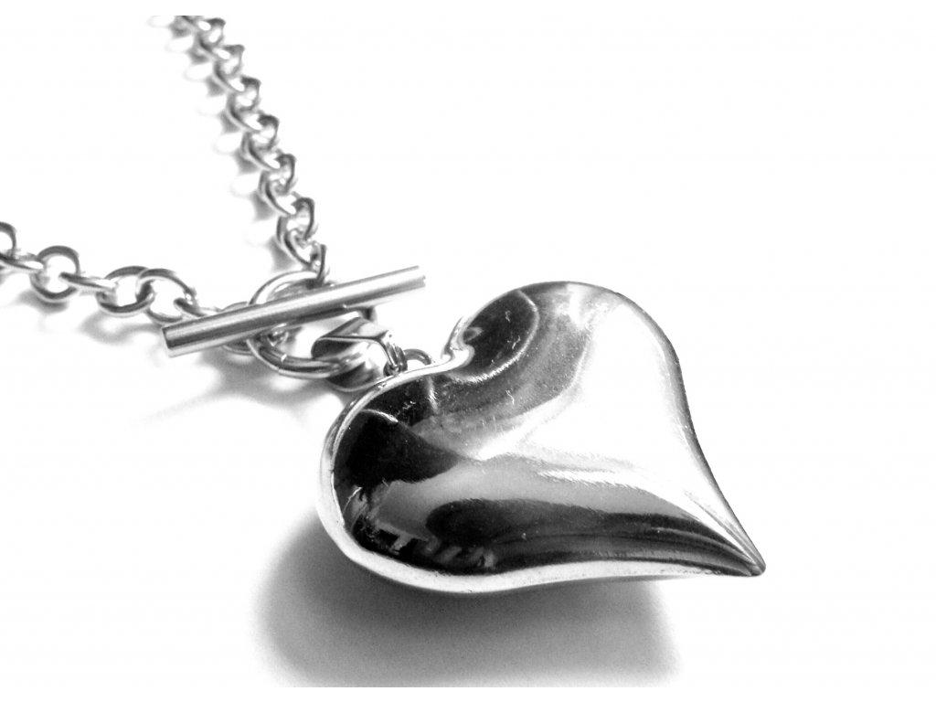 náhrdelník - chirurgická ocel - srdíčko - dámský - 090150