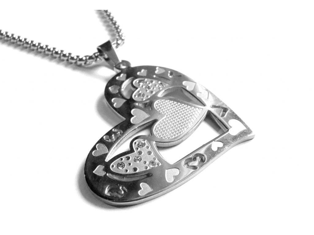 náhrdelník - chirurgická ocel - dámský - 090401