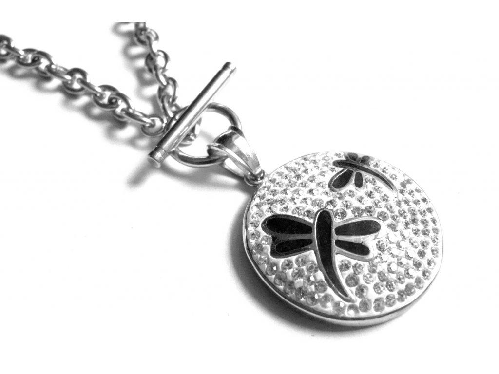 řetízek, náhrdelník - chirurgická ocel - vážky - 130116