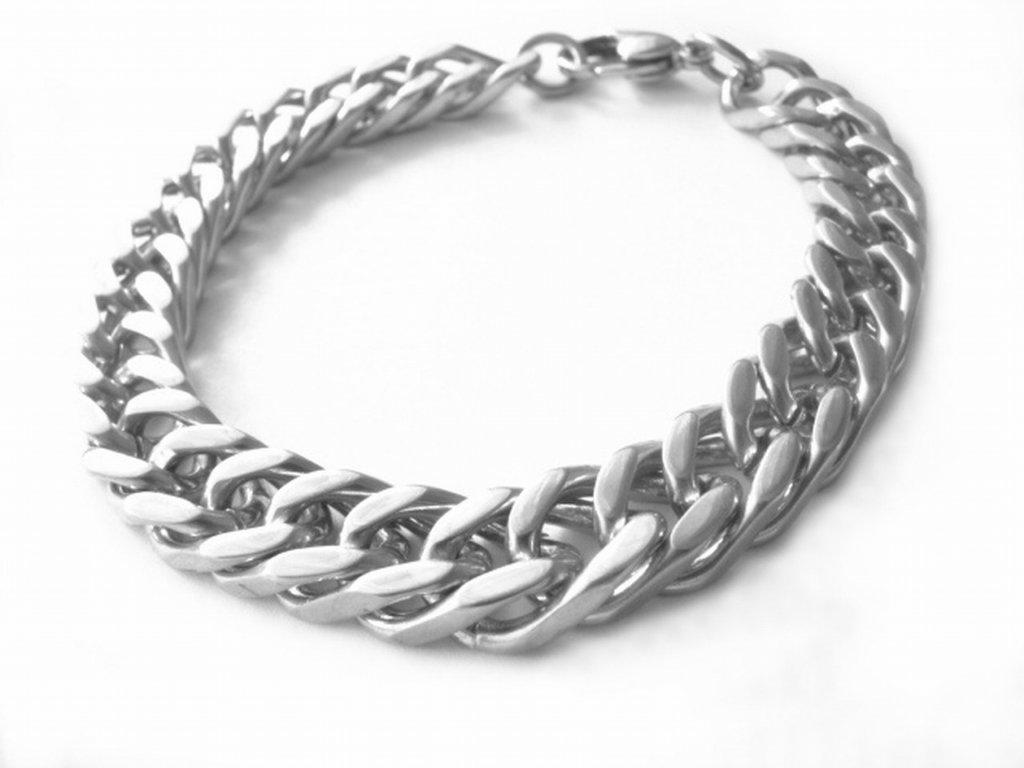 náramek - chirurgická ocel - pánský - masivní - 130213