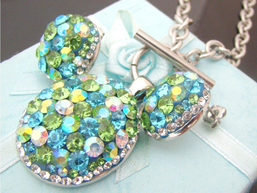 souprava - náhrdelník a náušnice - chirurgická ocel - dámský - 130184